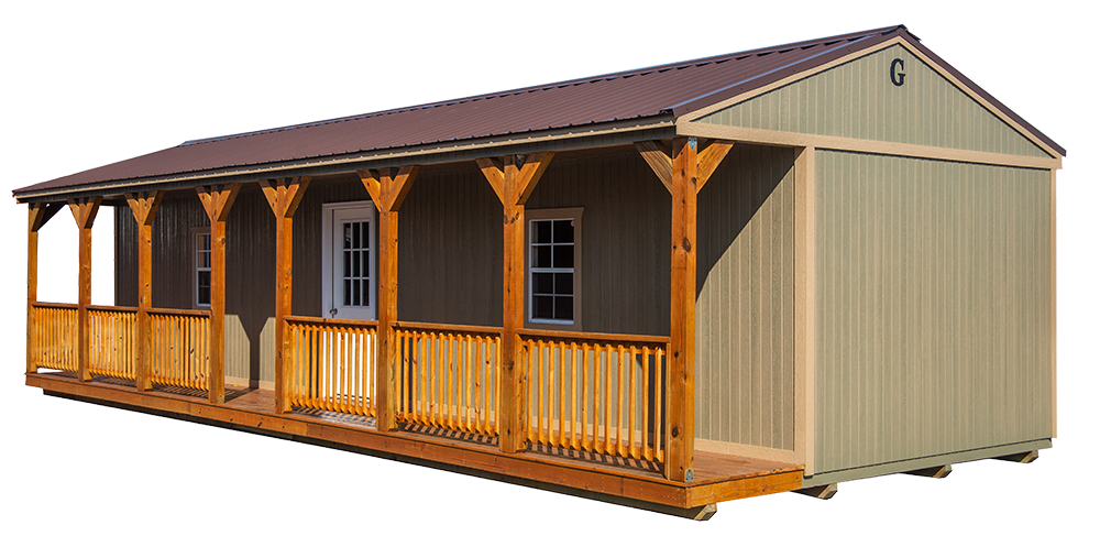 Side porch cabin Graceland